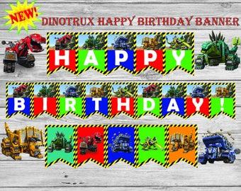 dinotrux banner, Dinotrux, Dintrux birthday, dinotrux party,dinotrux printables, dinotrux decor, dinotrux party supplies, dinosaur, party