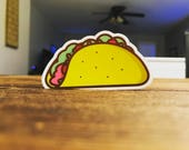 Die-cut Taco Sticker