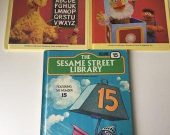 1983 Sesame Street Treasury hard cover books +  1979 Sesame Street Library book Jim Henson Muppets