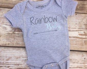 Rainbow baby onesie