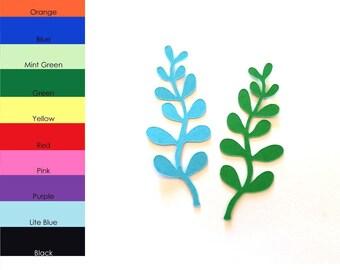25 Pack - Paper Seaweed Shape, Seaweed Die Cut, Seaweed Cut Outs, Paper Crafting, Sea Party Shapes