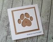 Pet sympathy card / Loss of your pet card / Cat sympathy card / dog sympathy card / handmade sympathy card / cards UK / rainbow bridge card