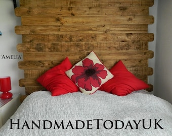 Handmade Headboard Focal Point Rustic Industrial made from Recycled Wood
