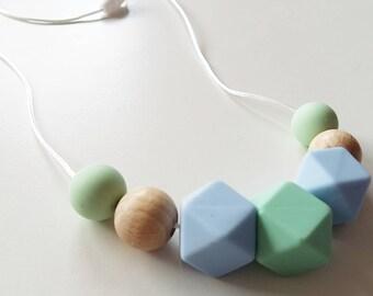 Stillkette Mamakette Kinderkette mit Silikonperlen... baby Geschenk Schnullerkette Kinderwagenkette Stilltuch personalized baby gift