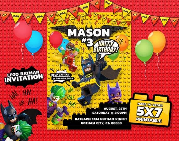 Lego Batman Invitation Lego Batman Birthday by ...