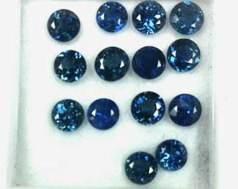 4mm Natural blue Sapphire