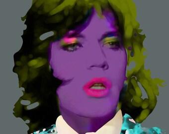 Mick Jagger - Rolling Stones, 60's & 70's Rock, Celebrity Portrait Prints, Pop/Rock Artists