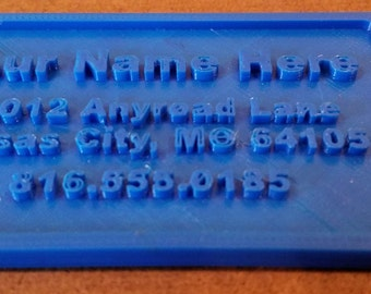 3D Printed Personalized Luggage Tag
