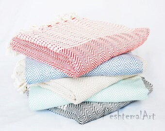 Herringbone Turkish Towel, Peshtemal Beach Towel, Turkish Bath Towel, Wholesale Turkish Towel, Fouta, ernblk