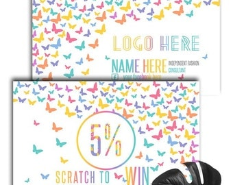 Business Cards Scratch Off Custom Home Office Approved Fonts and Colors  - Butterfly Business Cards For Consultants ,