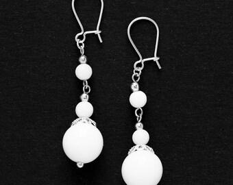 Earrings White Onyx