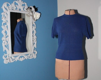 1940s Vintage Blue Blouse