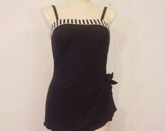 Vintage swimsuit, 1980s bathing suit, Roxanne swimsuit, vintage clothing, 34C