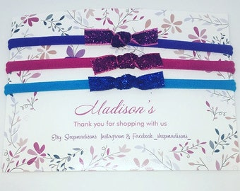 The 'Let's Party' dainty Glitter headbands