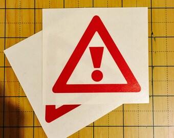 Exclamation Point Vinyl Sticker