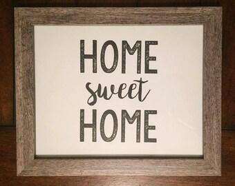 Home Sweet Home Printable/Sign/Poster