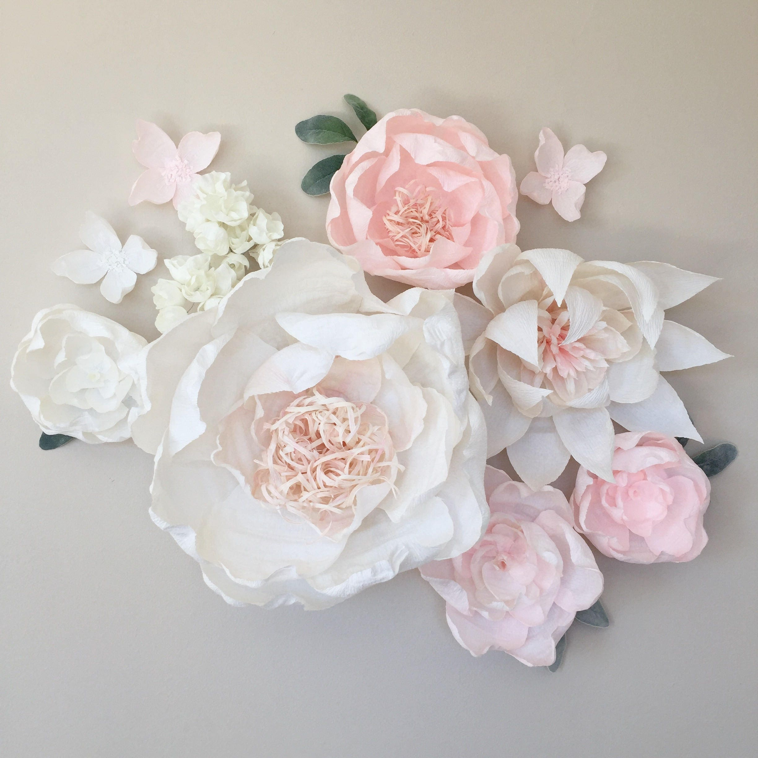 Paper Flower Backdrop Paper Flower Wall Crepe Paper