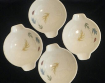 Vintage Franciscan Earthenware  Lugged Bowls. Autumn Leaves Pattern.