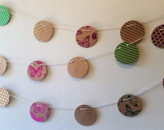 Handmade Paper Garlands - metallics