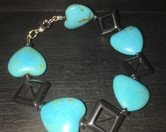 Turquoise Squared Bracelet