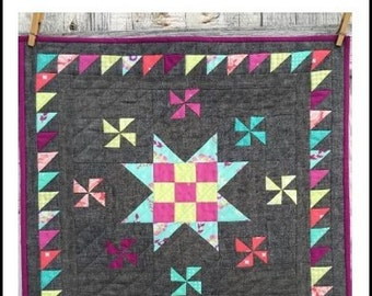 Mini Surround Sound-Quilt Pattern, By The Blushing Bobbin & Royal Garden Designs
