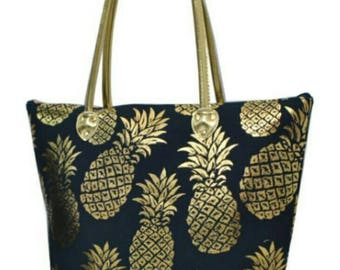 Summer Tote Bags - Pineapple - Anchor - By the Beach - Monogram -