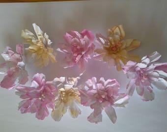 handmade 3D tattered flowers