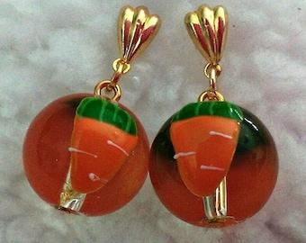 Carrot Bead Earrings