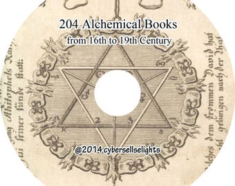 204 Alchemical Books from 16th to 19th century Library of Alchemy PDF format instant digital download