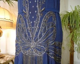 Georgette Silk Flapper Dress, ca. 1928