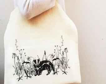 Badger Woodland Tote Bag