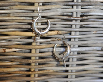 sterling silver tribal gypsy hoops earrings