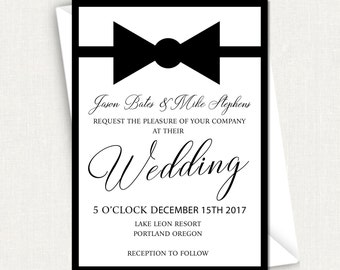 Shop for gay wedding invite on Etsy