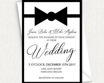 gay wedding invite | etsy, Wedding invitations