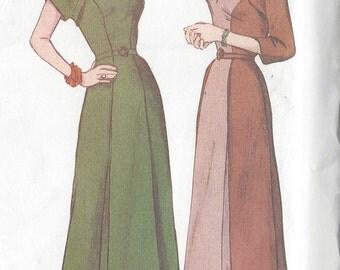 "1950 Vintage Sewing Pattern DRESS B34""-36""-38"" (R415) Butterick 6523"