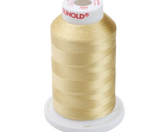 1070 Gold Gunold Thread - 40 WT SULKY RAYON Mini King Cones 1,100 Yds - Machine Embroidery Thread