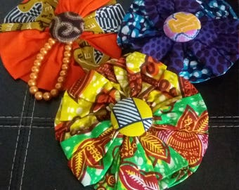 African Material Brooches