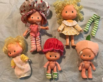 Vintage strawberry shortcake dolls - Strawberry Shortcake - vintage dolls - strawberry shortcake 1980's - strawberry shortcake babies - doll