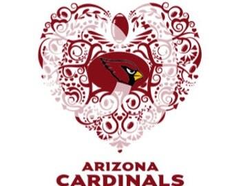 Arizona Cardinals  Ornate Heart SVG File
