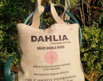 Hessian Tote - Shopping Bag - Market Bag - Hessian - Lined - Internal Pockets