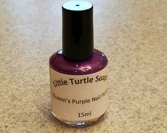 Queen's Purple Nail Polish, 15ml, gift for her, handmade, gift idea, hand mixed,purple, purple color, party favor