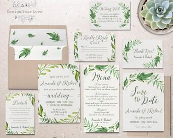 wedding invitation kits | etsy sg, Wedding invitations