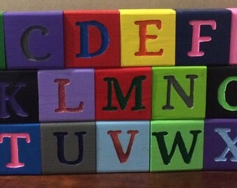 Children's A - Z  Wooden Blocks