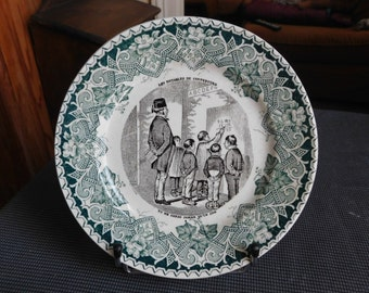 Talking plate n 4 notables of Cornebourg KG Lunéville 1892