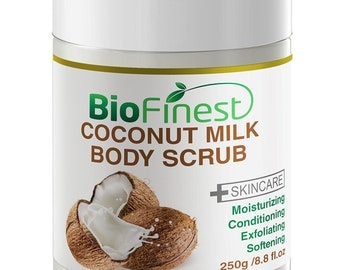 Biofinest Coconut Milk Body Scrub - with Dead Sea Salt, Almond Oil, Vitamin E-
