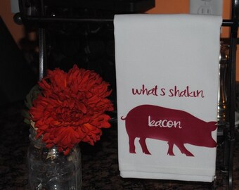 Whats Shakin Bacon Tea Towel
