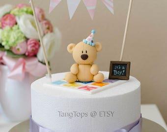 Teddy Bear Fondant Cake Topper