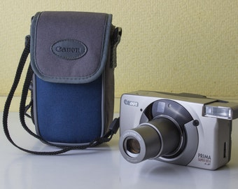 Canon Prima Super 105 X AiAf - Point and Shoot 35mm film camera - 38-105mm zoom lens - With Camera case