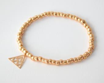 Bracelet triangle Rosé gold