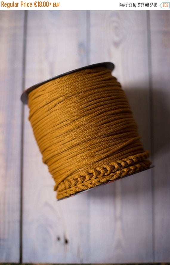 GOLDENROD rope cord, chunky yarn, colored rope, diy crafts, craft supplies, diy projects, rope yarn, polyester cord, rope cord. #46
